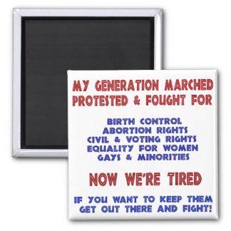 Fight For Rights Refrigerator Magnets