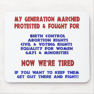 Fight For Rights Mouse Pad