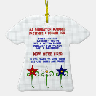 Fight For Rights Christmas Ornament