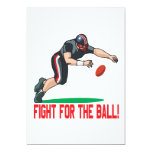 """Fight For The Ball 5"""" X 7"""" Invitation Card"""