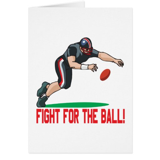 Fight For The Ball Greeting Card
