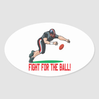 Fight For The Ball Oval Sticker