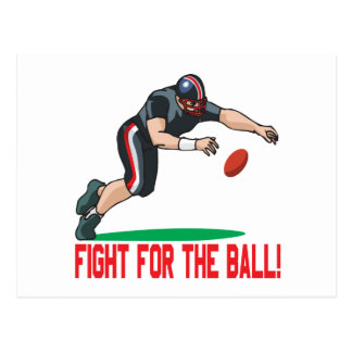 Fight For The Ball Postcard
