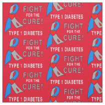 Fight for the Cure Type 1 Diabetes Fabric
