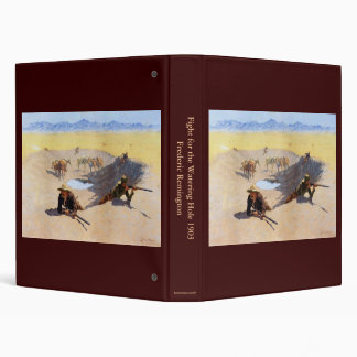 Fight for the Water Hole by Frederic Remington 3 Ring Binder