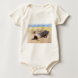 Fight for the Water Hole by Frederic Remington Baby Bodysuit