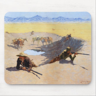 Fight for the Water Hole by Frederic Remington Mouse Pad