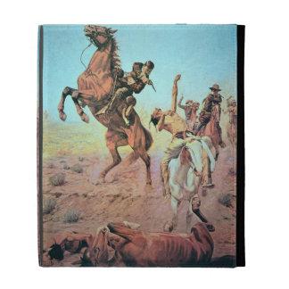 Fight for the Water Hole (colour litho) iPad Folio Case