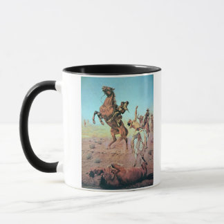 Fight for the Water Hole (colour litho) Mug