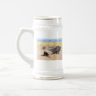 Fight for the Water Hole ~ Frederic Remington Beer Stein