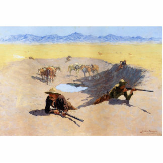 Fight for the Water Hole ~ Frederic Remington Cutout
