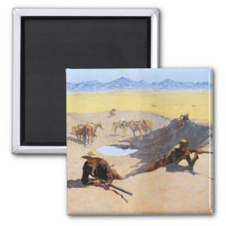 Fight for the Water Hole ~ Frederic Remington Magnet