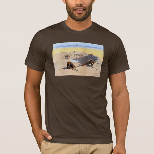 Fight for the Water Hole ~ Frederic Remington T-Shirt