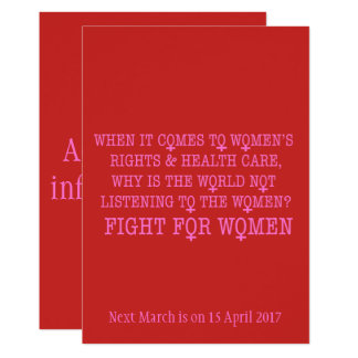 Fight for Women Card