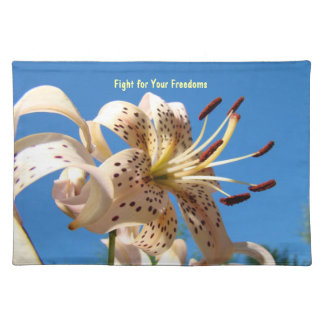 Fight for Your Freedoms Government Taxes Elections Cloth Placemat