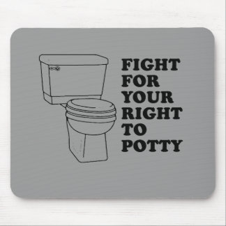 Fight for your right to potty baby t-shirt mouse mat