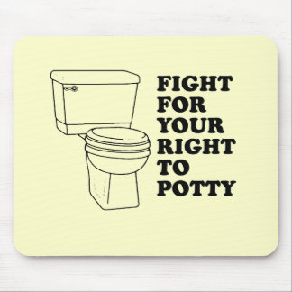 Fight for your right to potty baby t-shirt mouse mats
