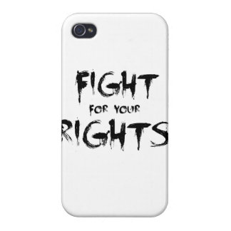 Fight for your rights iPhone 4/4S covers