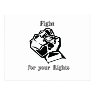 Fight for your Rights Post Cards