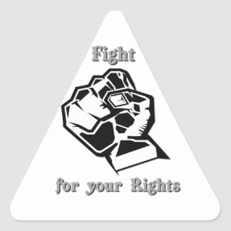 Fight for your Rights Triangle Sticker