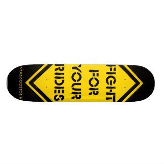 fight for your wrinkles skateboard deck