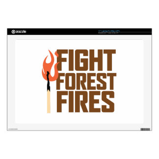 "Fight Forest Fires Decal For 17"" Laptop"