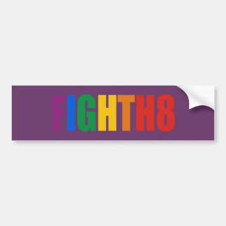 Fight H8 Bumper Sticker