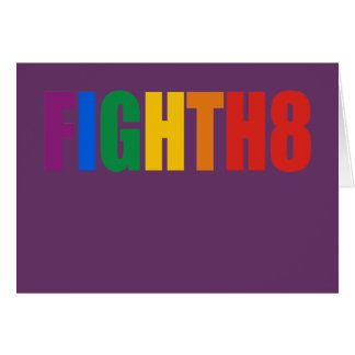 Fight H8 Greeting Cards