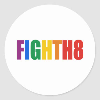 Fight H8 Classic Round Sticker