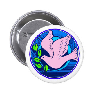 FIGHT HATE WITH PEACE PINBACK BUTTON