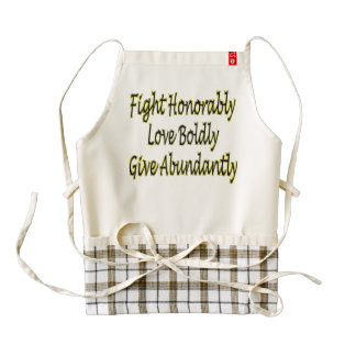 Fight Honorably, Love Boldly, Give Abundantly Zazzle HEART Apron
