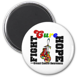 Fight Hope Cure - Autism 2 Inch Round Magnet