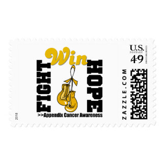Fight Hope Win - Appendix Cancer Postage
