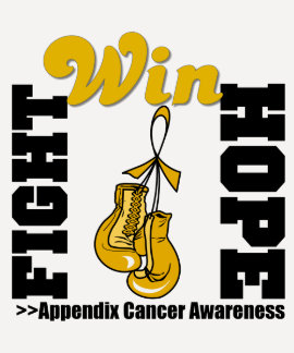 Fight Hope Win - Appendix Cancer T-shirt
