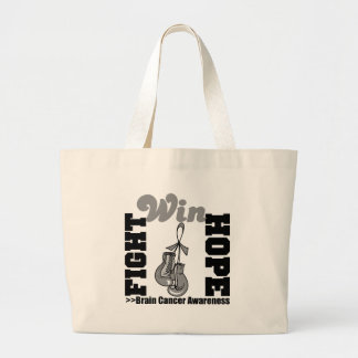 Fight Hope Win - Brain Cancer Canvas Bag