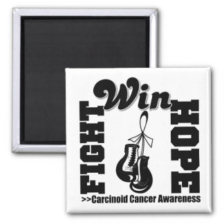 Fight Hope Win - Carcinoid Cancer 2 Inch Square Magnet