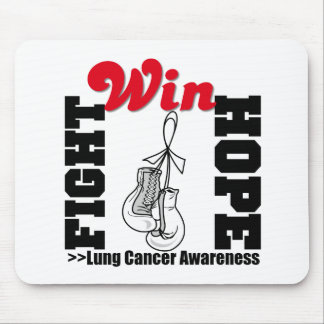 Fight Hope Win - Lung Cancer Mouse Pad