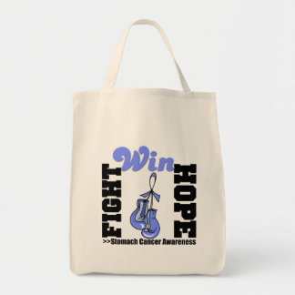 Fight Hope Win - Stomach Cancer Grocery Tote Bag