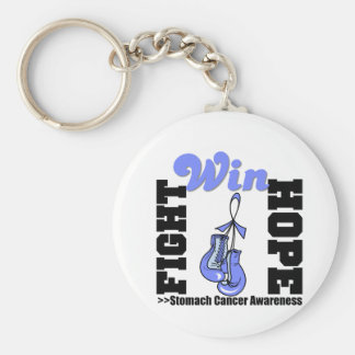 Fight Hope Win - Stomach Cancer Basic Round Button Keychain