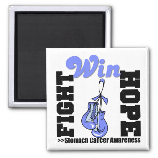 Fight Hope Win - Stomach Cancer 2 Inch Square Magnet