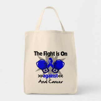 Fight is On Against Anal Cancer Grocery Tote Bag