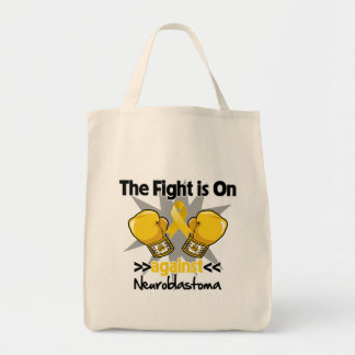 Fight is On Against Neuroblastoma Canvas Bags