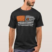 Fight Kidney Cancer American Flag Vintage T-Shirt