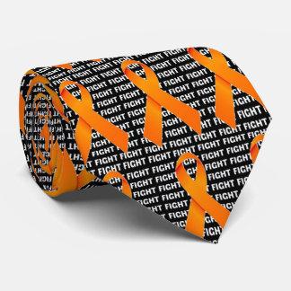 Fight Kidney Cancer Orange Ribbon Tie