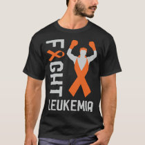 Fight Leukemia Cancer Awareness Day Ribbon Fighter T-Shirt