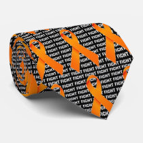 Fight Leukemia Orange Ribbon Tie