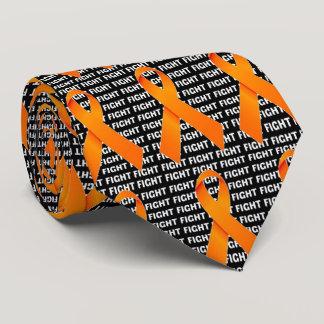 Fight Leukemia Orange Ribbon Tie