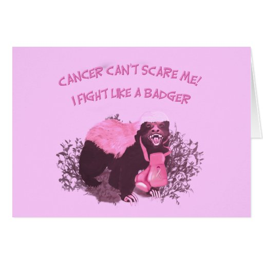 Fight Like A Badger Greeting Card