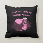 Fight Like A Badger Throw Pillow