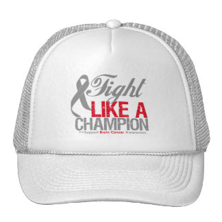 Fight Like a Champion Brain Cancer Hat